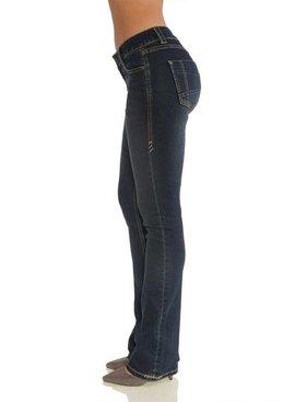 Rubberband Stretch Rubberband Sarina Bootcut-Blue Black