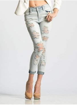 Rubberband Piper Destructed Cropped Skinny – Fluff