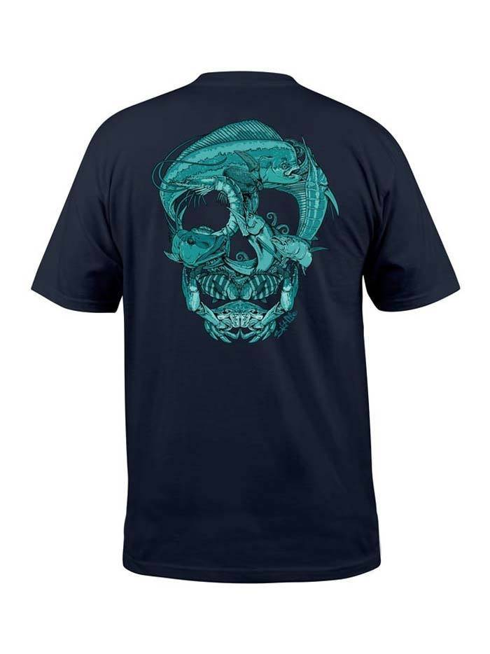 Salt Life Salt Life Sea Skull Pocket Tee