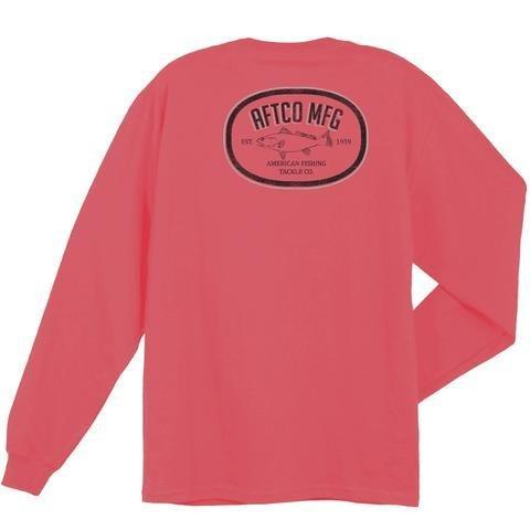AFTCO AFTCO Inshore Oval LS Vintage Pocket T-Shirt