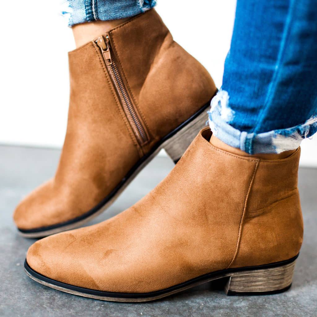 Bamboo Saber Faux Suede Bootie