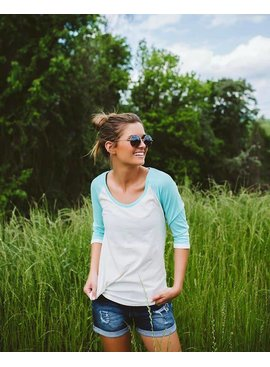 Lauren James Lauren James - Heathered Baseball Tee
