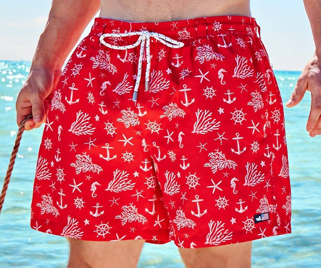 Southern Marsh Southern Marsh - Dockside Swim Trunk - Anchors