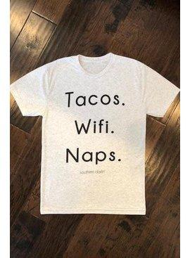 Tacos. Wifi. Naps.