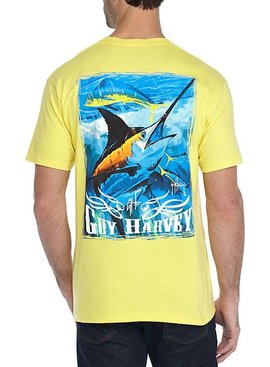 Guy Harvey Guy Harvey Blue And Dolphin Mens Short Sleeve Shirt