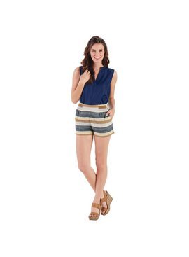 Mud Pie Savannah Stripe Cotton Shorts Multi-Color