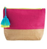 Mud Pie Color Block Jute Carry-All