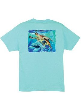 Guy Harvey Guy Harvey Hawksbill Caravan Boys Short Sleeve Shirt