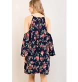 Entro Inc Floral print open-shoulder dress