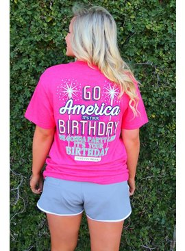 Jadelynn Brooke Go America It's Your Birthday  - Short Sleeve