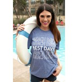 ATX Mafia, LLC Beach Days Best Days (Navy) - Short Sleeve