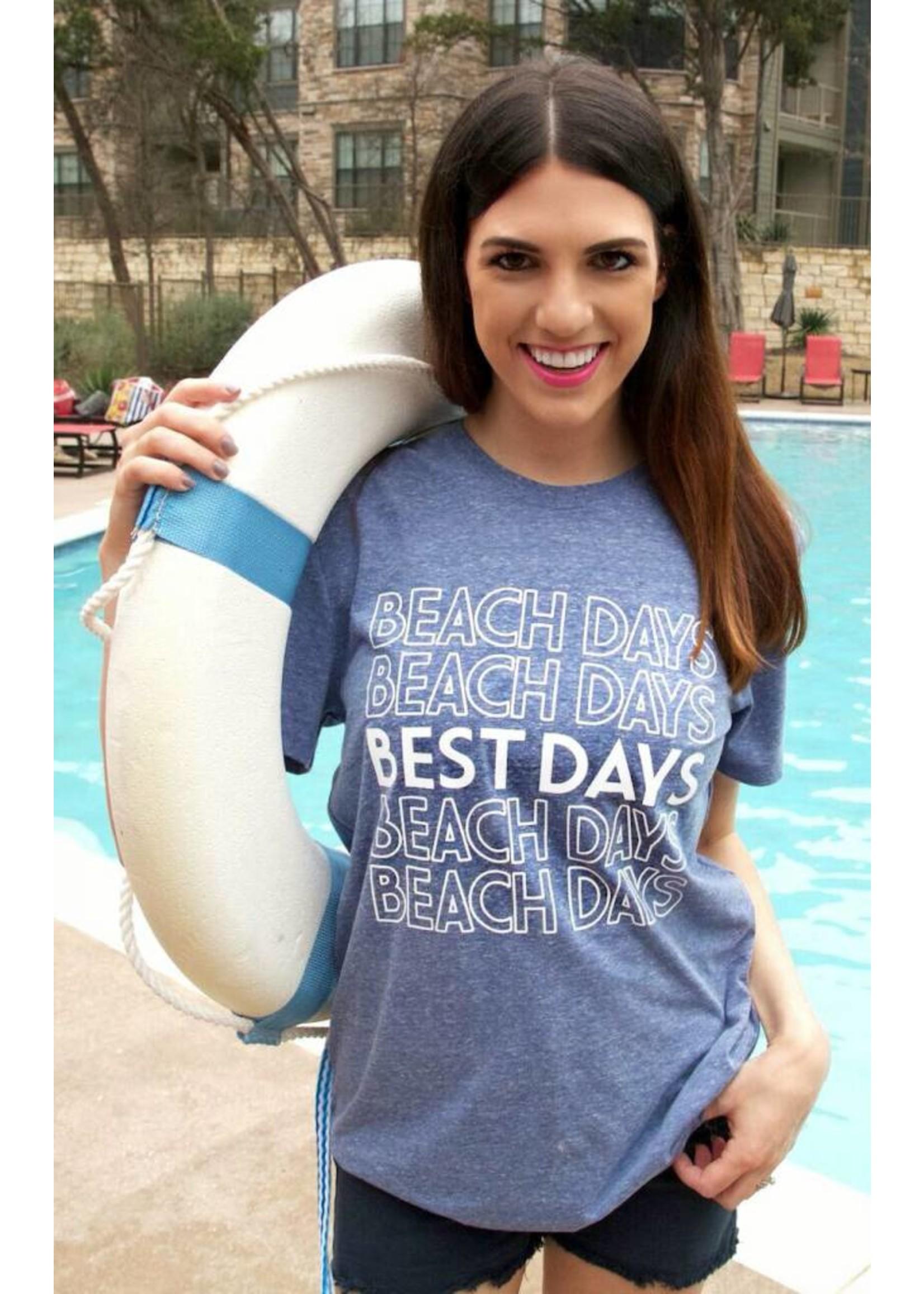 Beach Days Best Days (Navy) - Short Sleeve