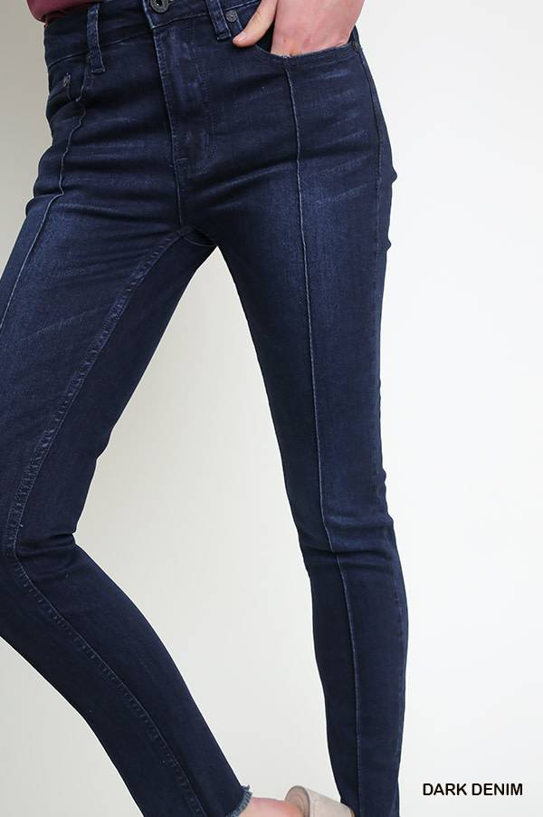 Umgee 5 Pocket Mid Rise Skinny Seamed Jean