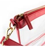 Capri Designs Small Crossbody - Clear PVC