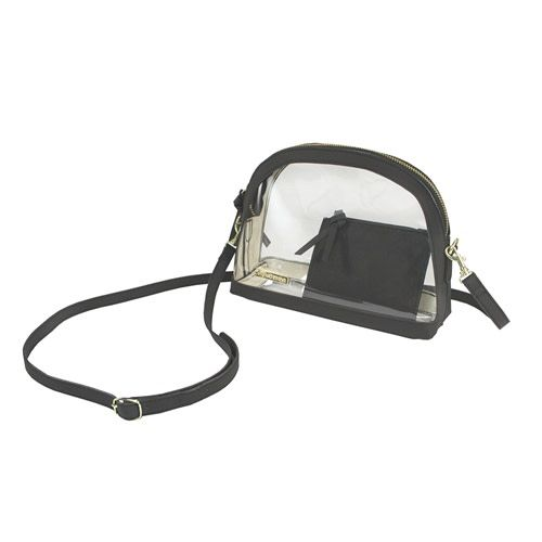Capri Designs Half Moon Crossbody - Clear PVC