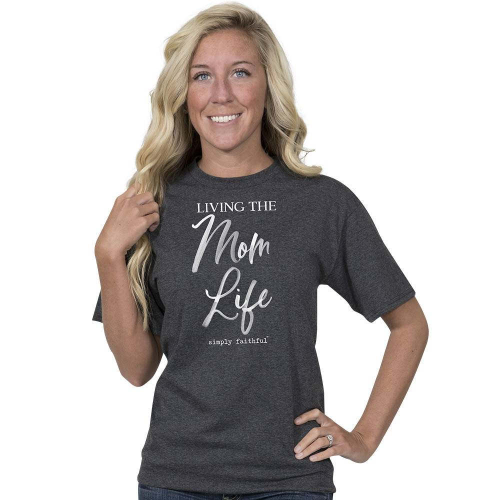 SIMPLY FAITHFUL® Living The Mom Life Short Sleeve T-Shirt