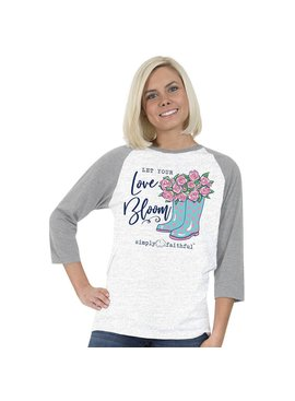SIMPLY FAITHFUL® Let Your Love Bloom 3/4 Sleeve T-Shirt
