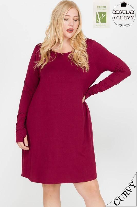 BAMBOO Thumbhole Pocket Dress