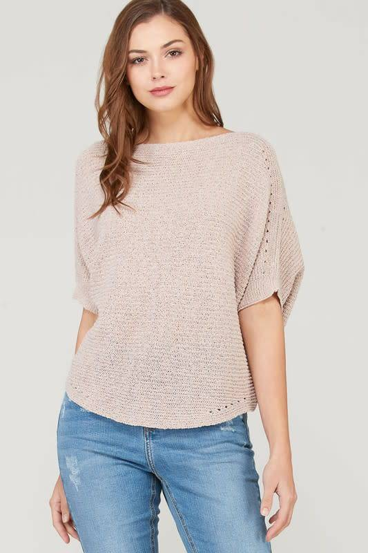 Wishlist 3/4 LENGTH FINE BATWING SWEATER
