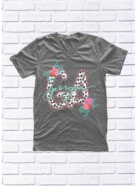 "Calamity Jane's Apparel GEORGIA: Leopard ""GA"" and Floral"
