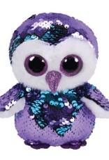 Ty TY-MOONLIGHT PURPLE SEQUIN OWL REG