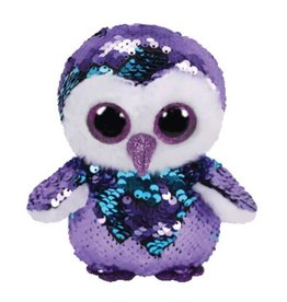 Ty TY-MOONLIGHT PURPLE SEQUIN OWL REG