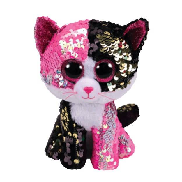 Ty TY-MALIBU SEQUIN PINK/BLK CAT MED
