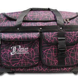 Dream Duffel Medium Pink Scribble