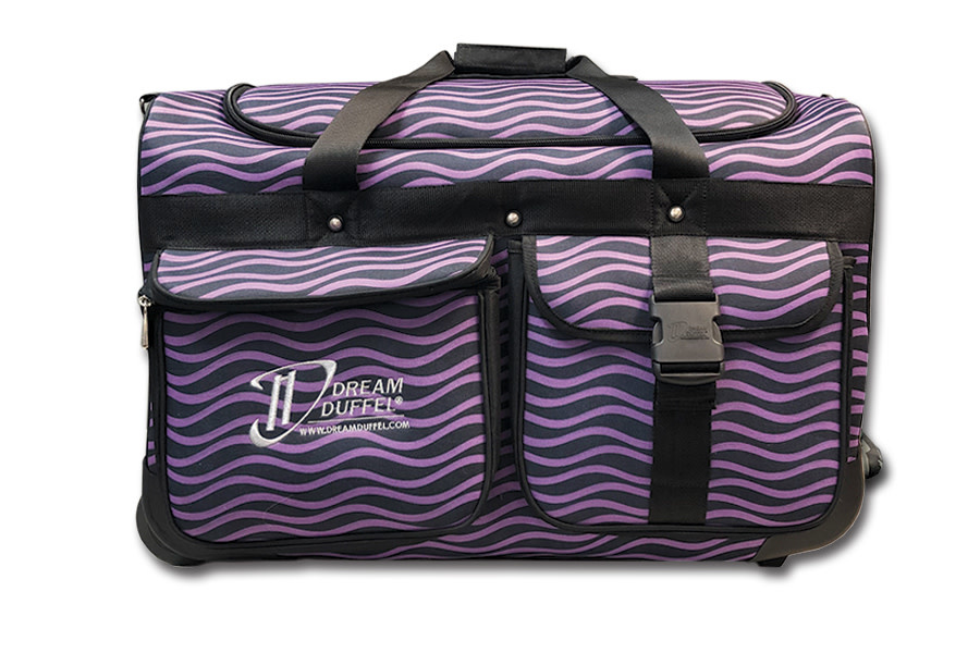 Dream Duffel Medium Purple Waves