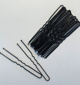 "Be A Star Black 3"" Hairpins 25 pack"