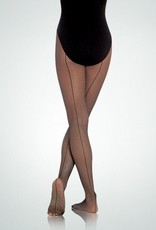 Body Wrappers A62 Seamed Fishnet Dance Tight for Adults