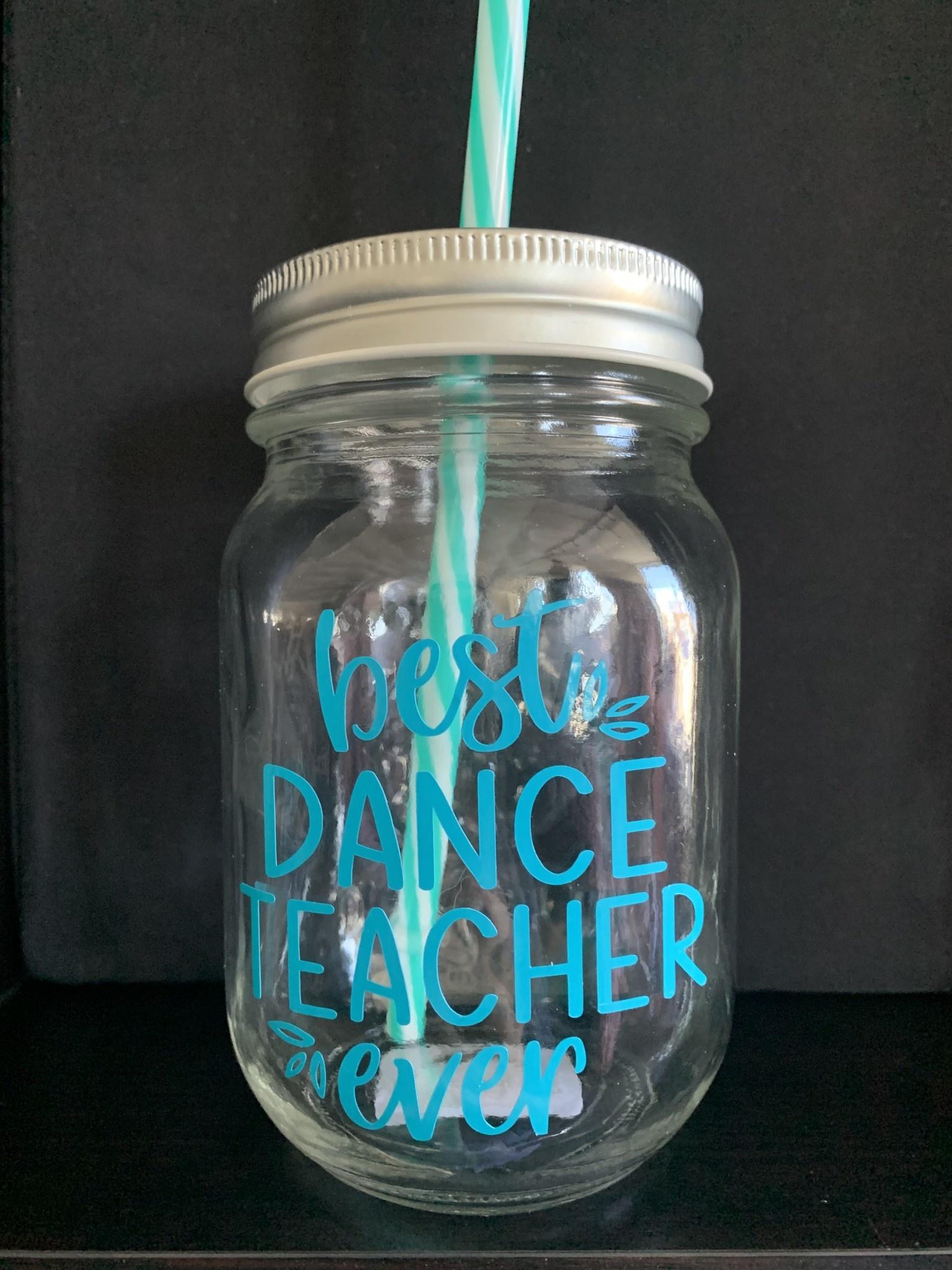 Knotted & Twisted Dance Teacher Mason Jar