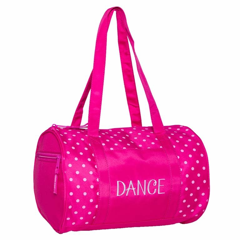 Horizon 1008 Dance Duffel Bag in Pink Dots