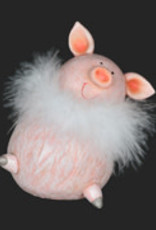 Christmas Tradition D0217 Pig with Boa 5.5 inch