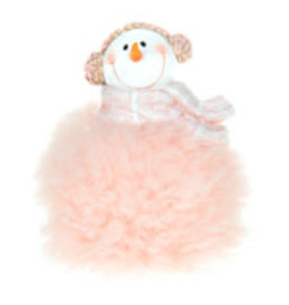 Christmas Tradition D8372 Snowman in pink
