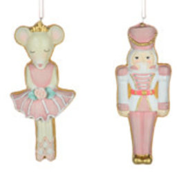 Christmas Tradition W9140 Nutcracker/Mouse Ornament