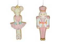 Christmas Tradition W9140 Nutcracker/Mouse Ornament