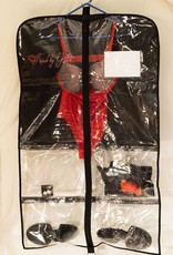 KISSED BY GLITTER Clear Garment Bag with Pockets