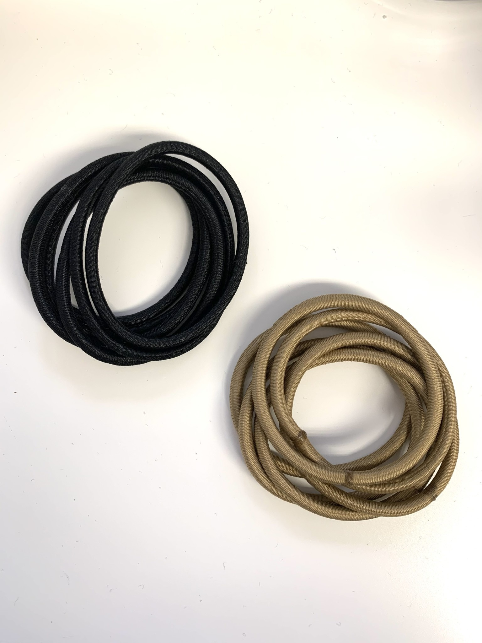 FH2 Hair Elastics Black 6/pkg