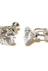 FH2 AZ0017-1 10mm Crystal Earrings Clip-on