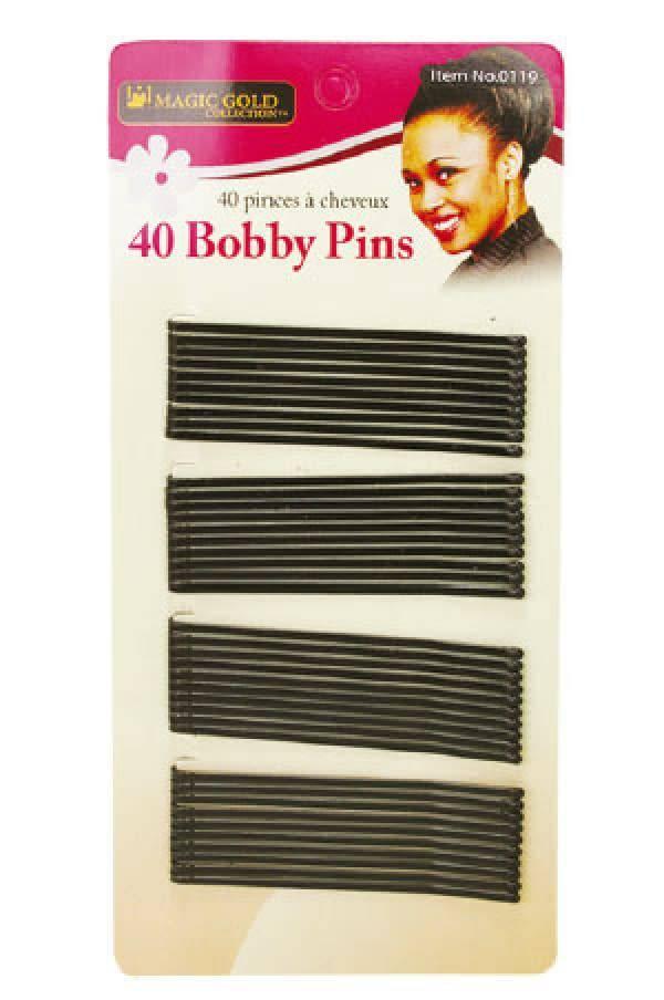 Magic Bobby Pins Black Long 40/pkg