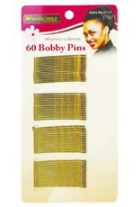 Magic Bobby Pins Gold Regular 60/pkg