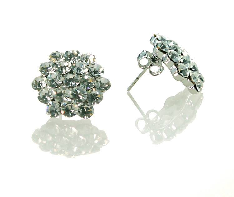 FH2 AZ0015 Cluster Crystal Earrings Pierced