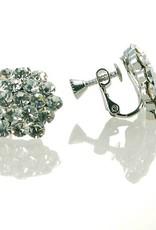 FH2 AZ0015-1 Cluster Crystal Earrings Clip On