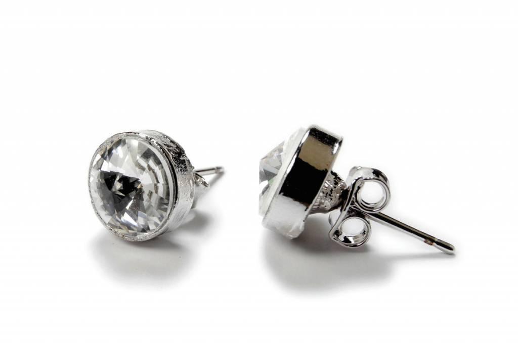 FH2 AZ0001 Single Stone Pierced Earrings