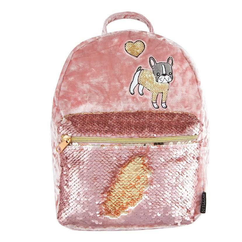 Fashion Angels Crushed Velvet/Magic Sequin Mini Backpack