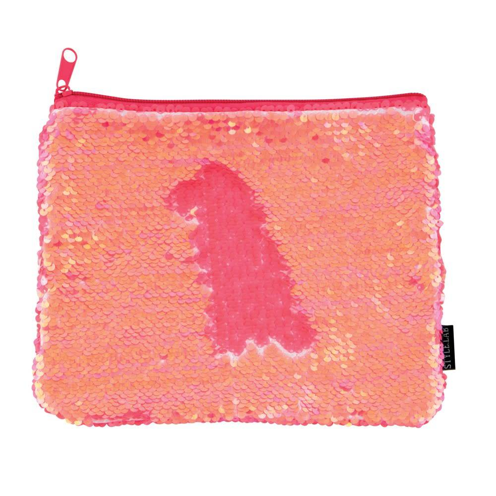 Fashion Angels Coral Magic Sequin Zip Pouch