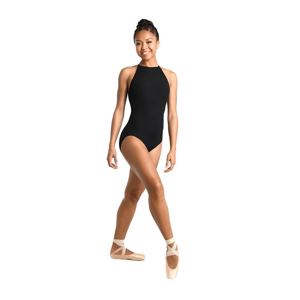 Danshuz 2465A Cutaway Halter Bodysuit for Adults