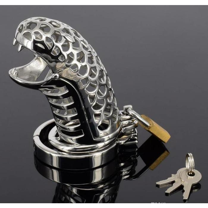 Chastity Cage Serpent Design