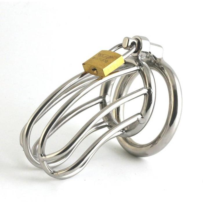 Steel Chastity Cage, 50mm Ring